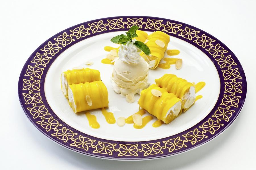 芒果香蕉班戟卷