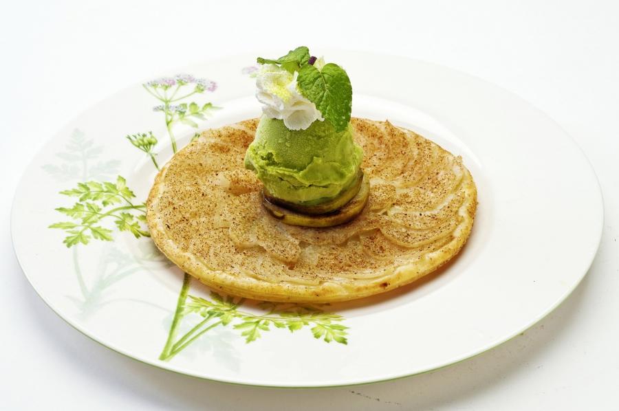 香梨綠茶薄餅