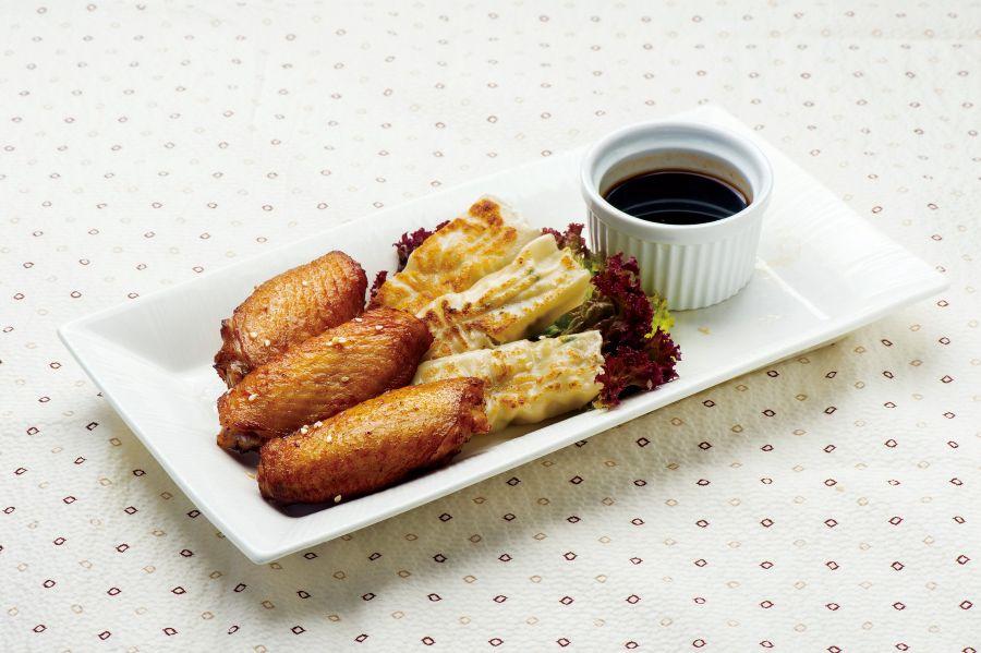 雞中翼拼日式煎餃子